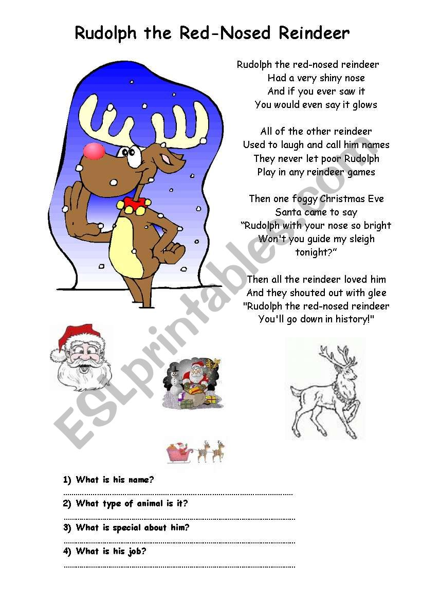 a christmas song rudolph the red nosed reindeer - Christmas Songs Rudolph The Red Nosed Reindeer