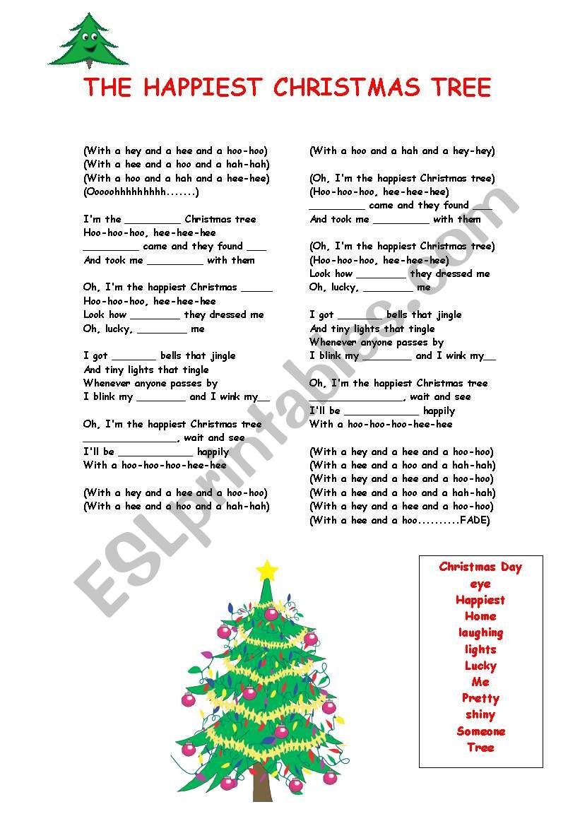 the happiest christmas tree worksheet