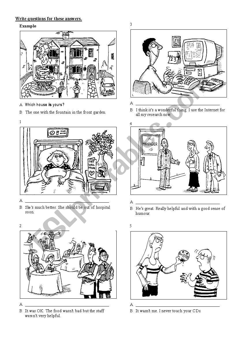 communication activity worksheet