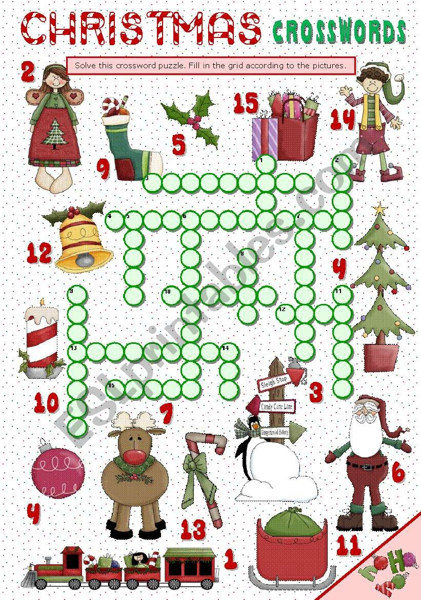 CHRISTMAS CROSSWORDS worksheet