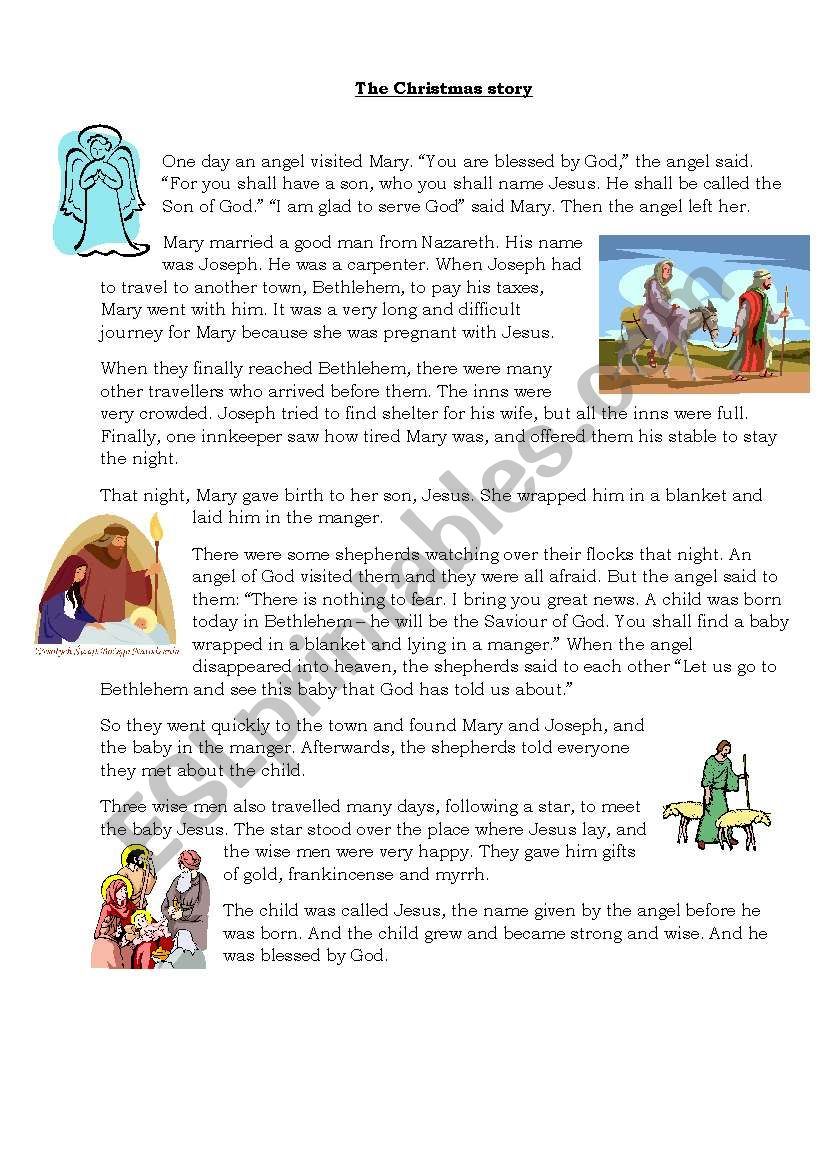 The Christmas Story worksheet