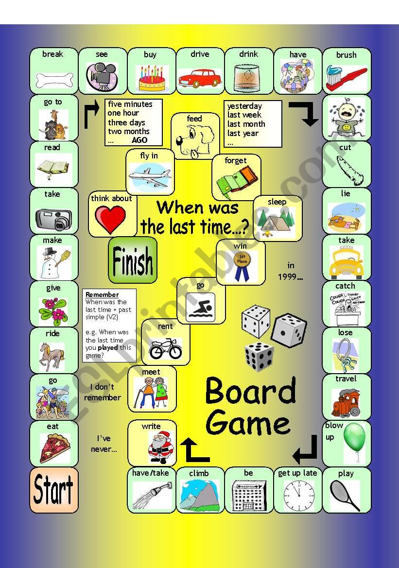 Board Game - When was the last time...?