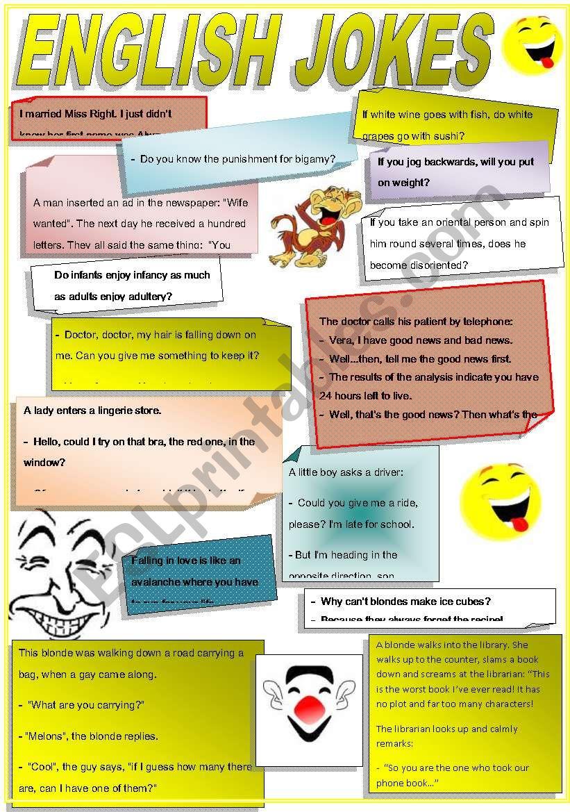 ENGLISH JOKES worksheet