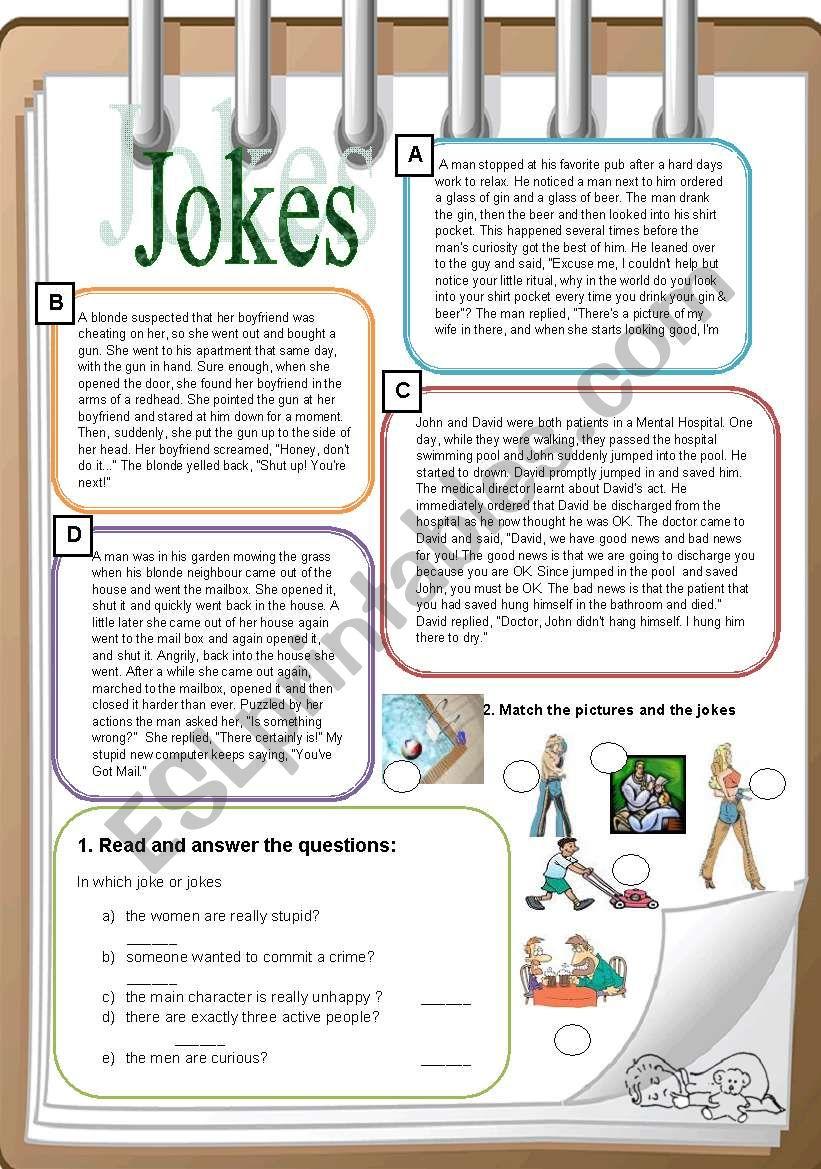 Jokes worksheet