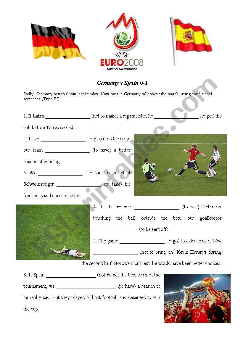 Football Euro 2008 Final  GER-ESP (Conditional III exercise)