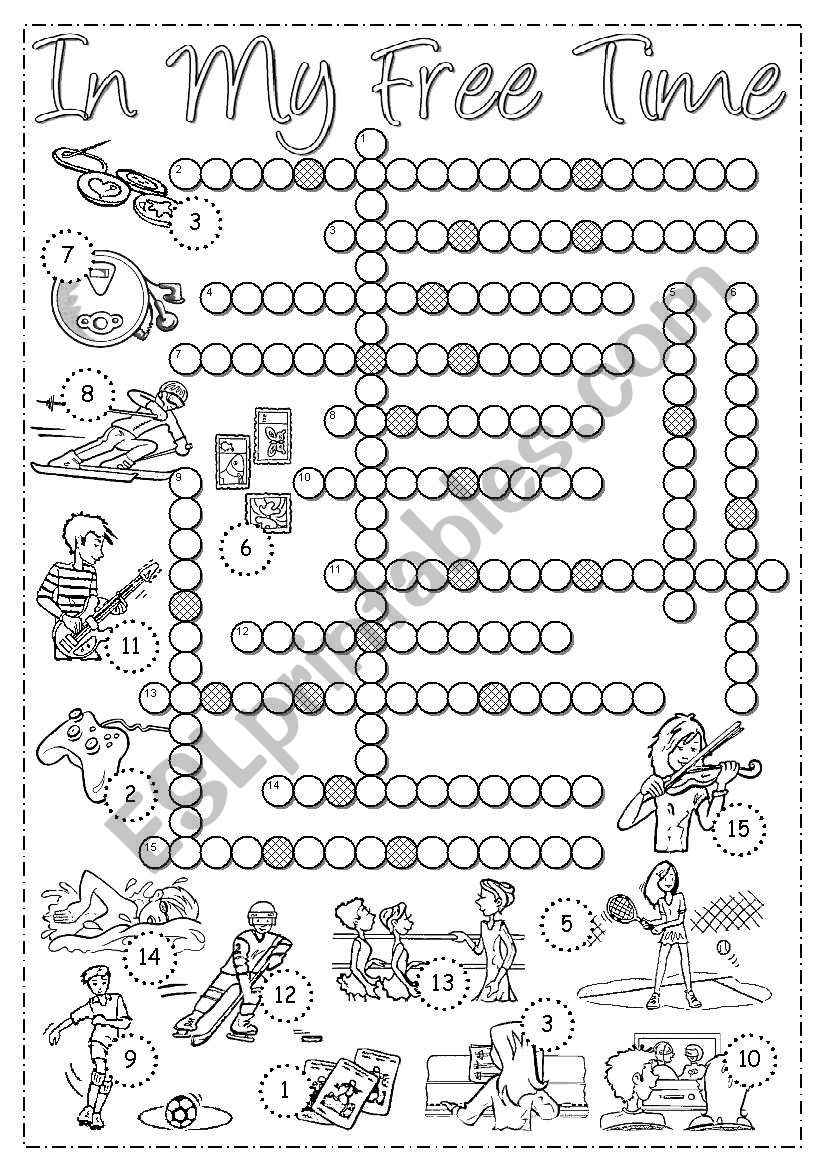 Free Time - Crossword worksheet