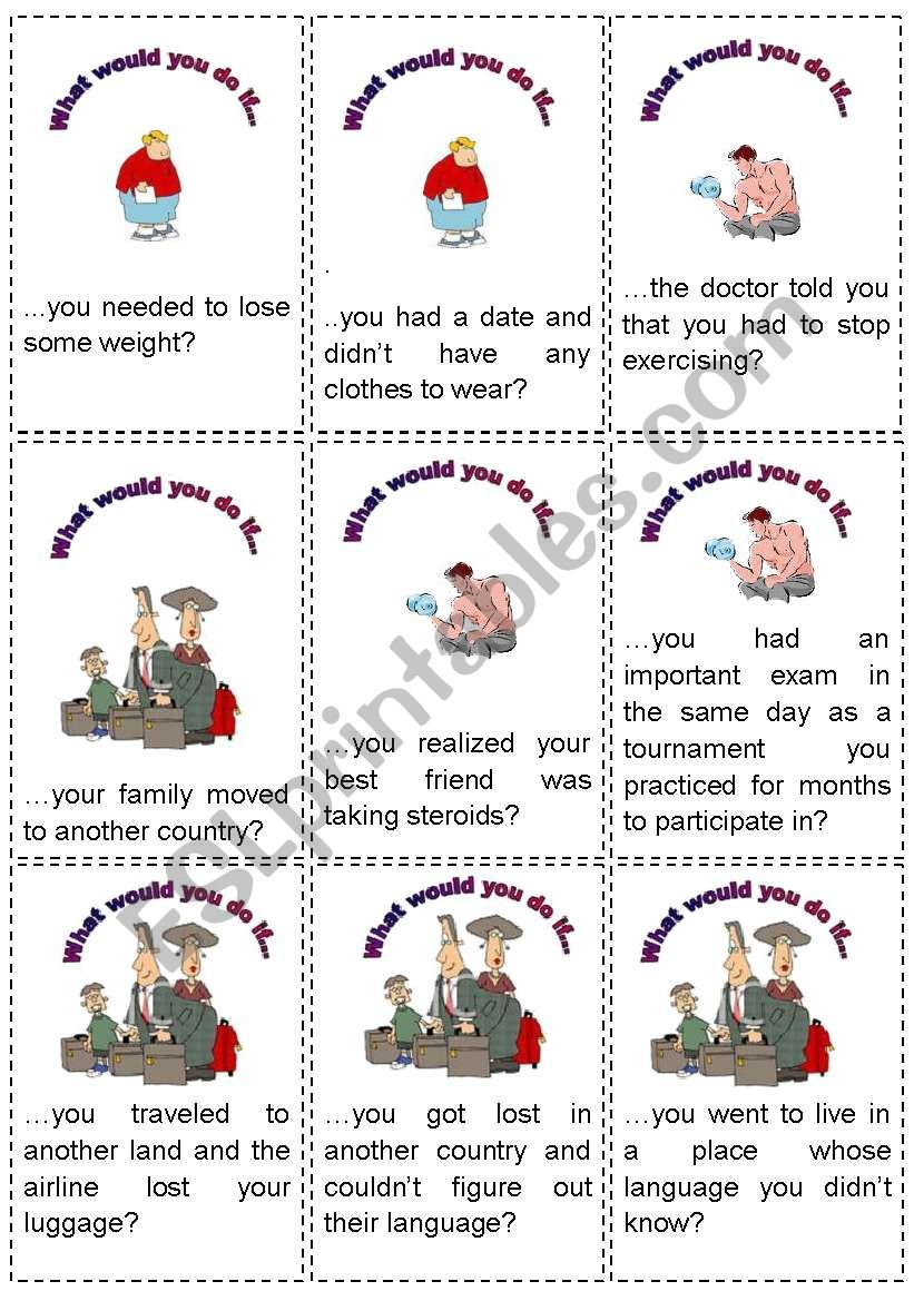 Conditional 2 - 64 game cards - 6 pages (fully editable)