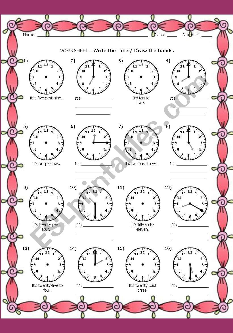 WHAT TIME IS IT?#1 worksheet