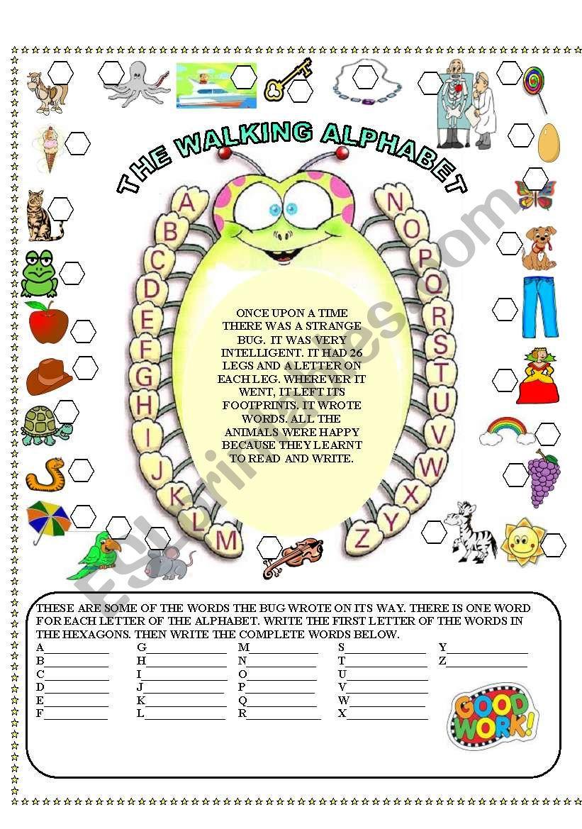 the walking alphabet worksheet