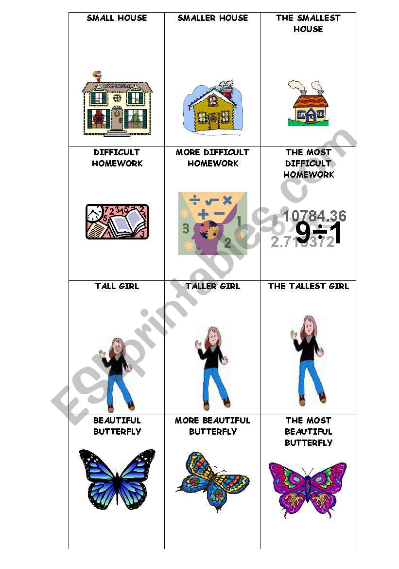 COMPARATIVE AND SUPERLATIVE GO FISH GAME PART 1