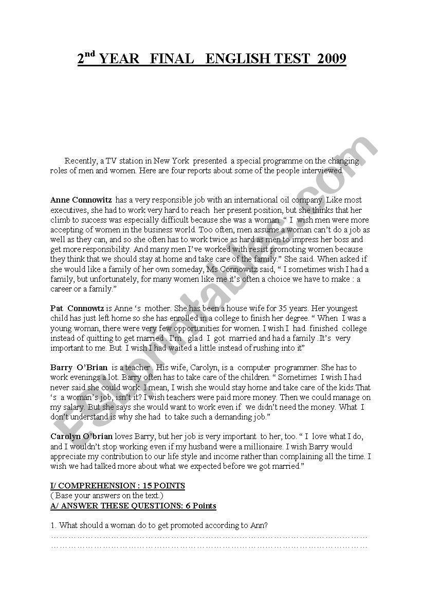 BTS ENGLISH TEST worksheet