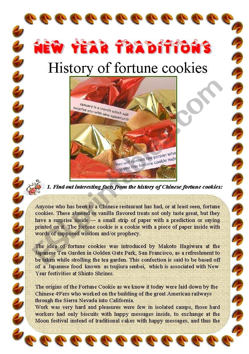 chinese new year fortune cookies esl worksheet by marieanne. Black Bedroom Furniture Sets. Home Design Ideas