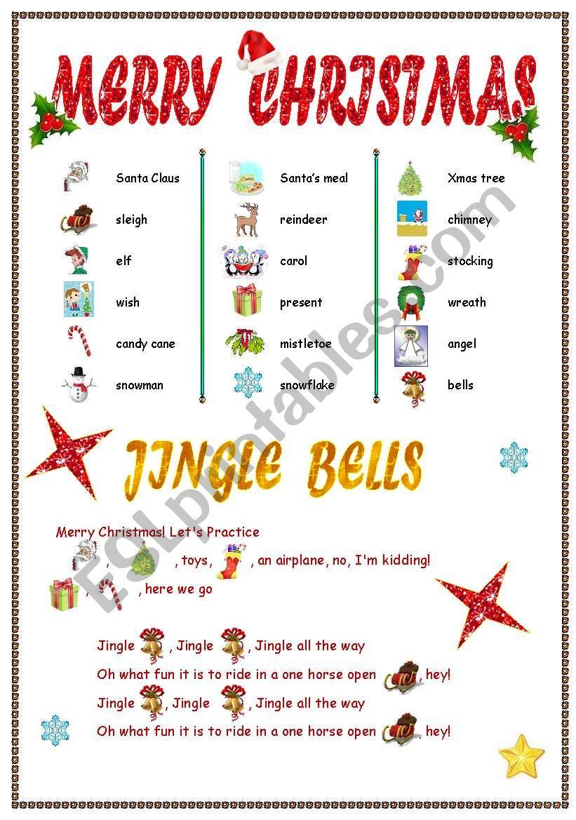 New Jingle Bells worksheet