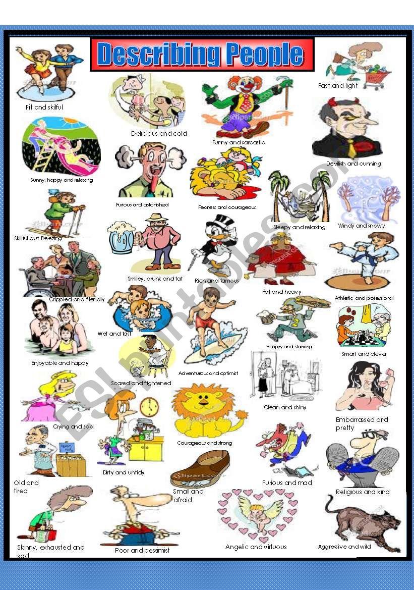 Describing People (Adjective dictionary)