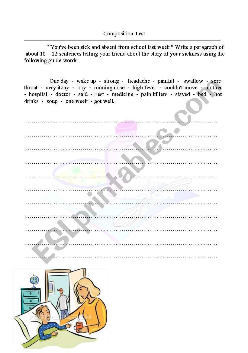 Writing  worksheet
