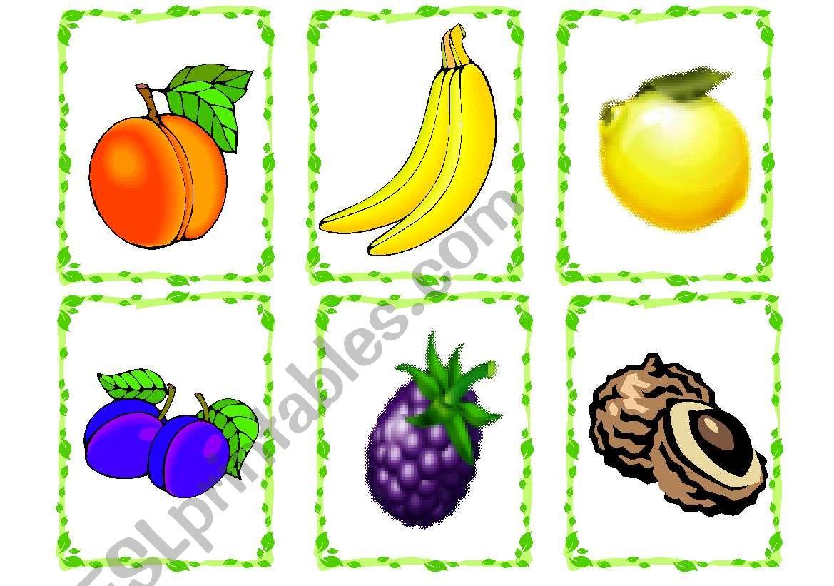 Fruit Flashcards worksheet