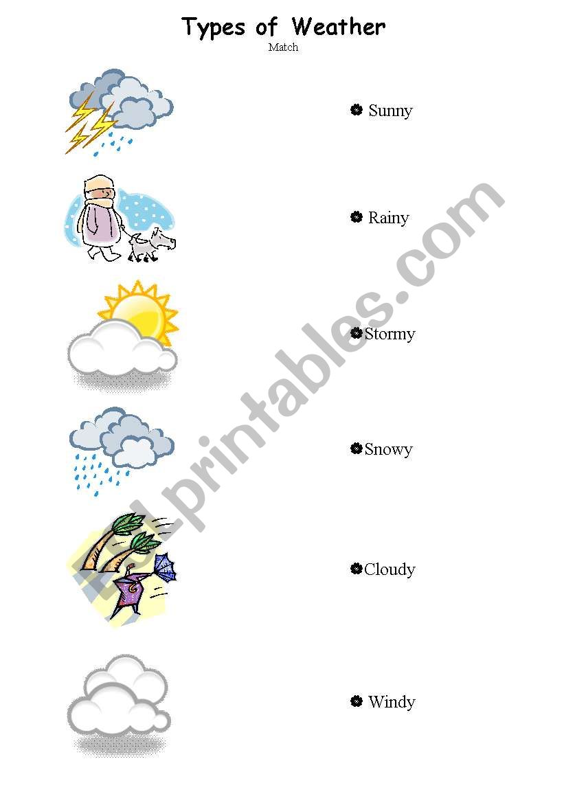 Different Types Of Worksheets : English worksheets different types of weather