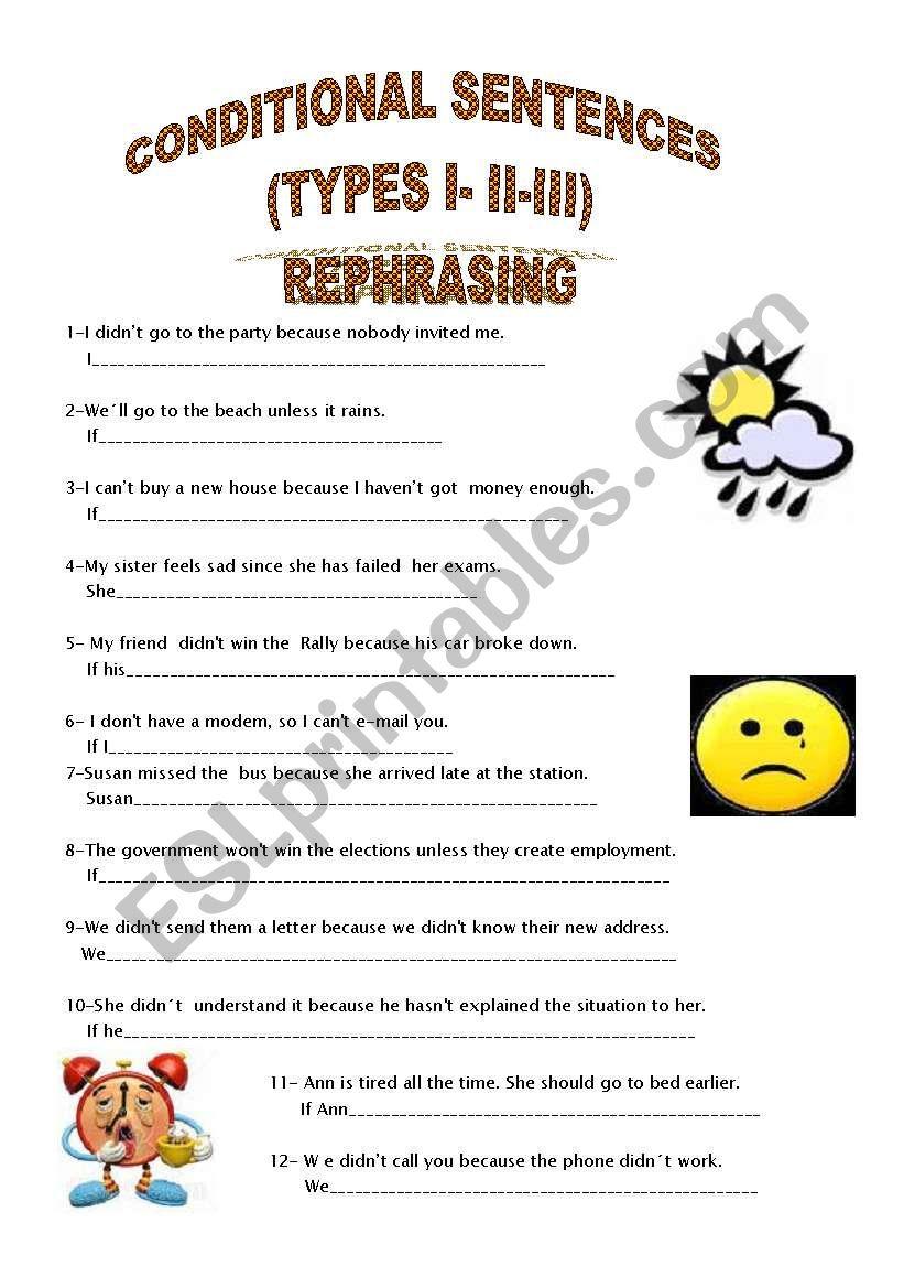 REPHRASING CONDITIONAL SENTENCES