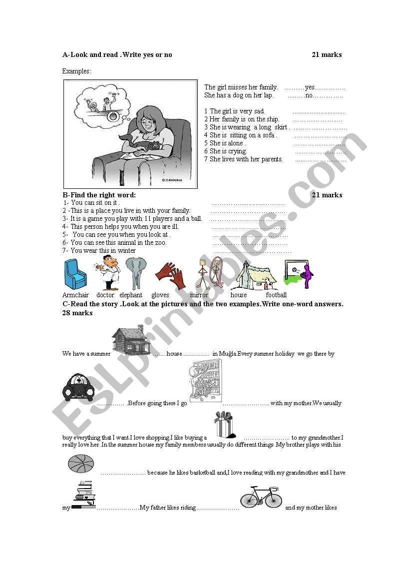 movers exam  worksheet