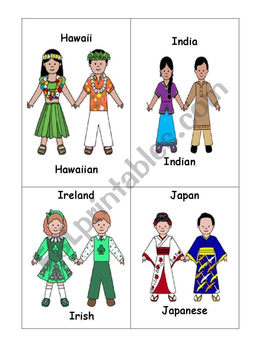Nationalities set 4 worksheet