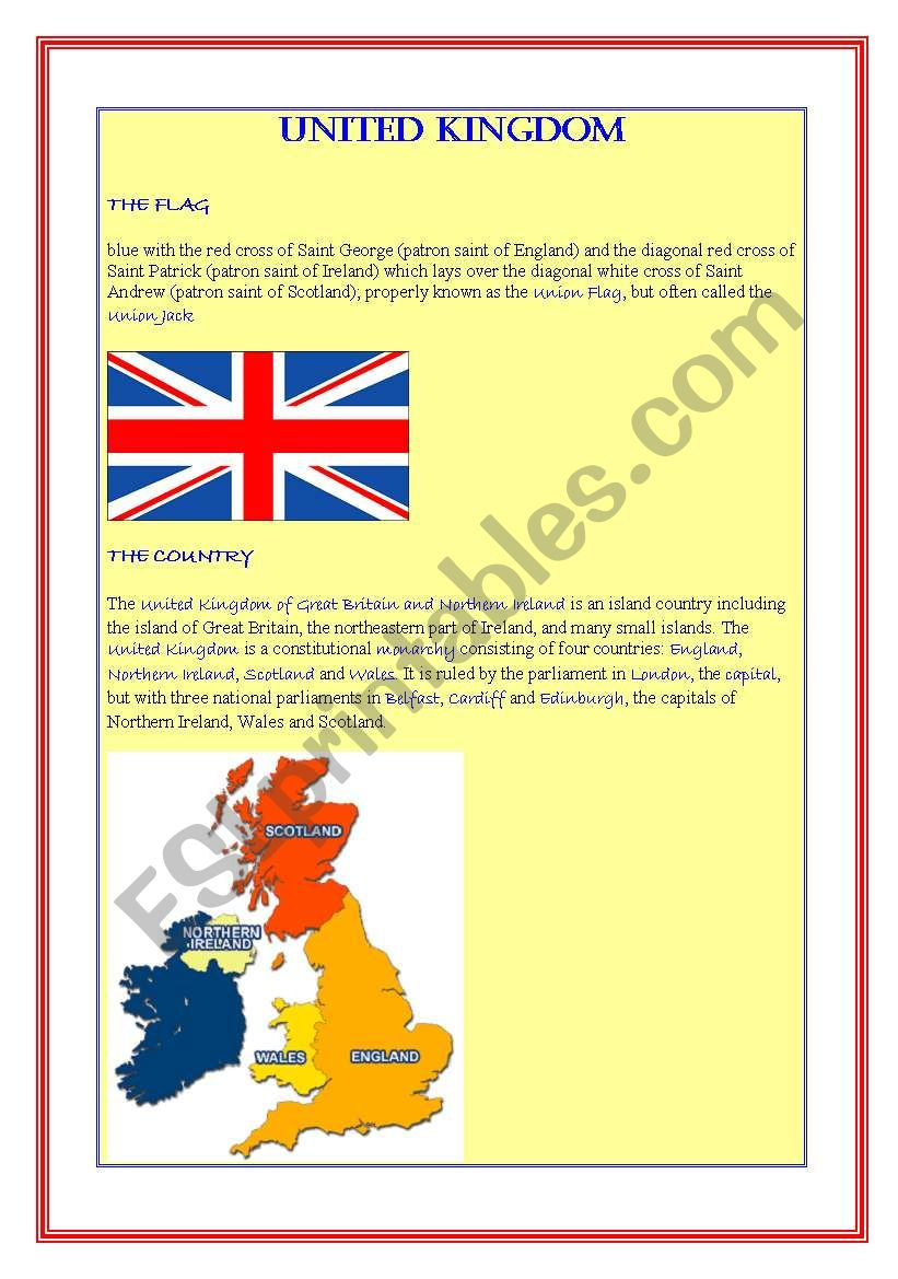 United Kingdom worksheet