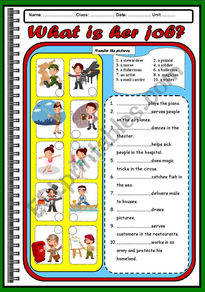 OCCUPATIONS ( PAPER 1) worksheet