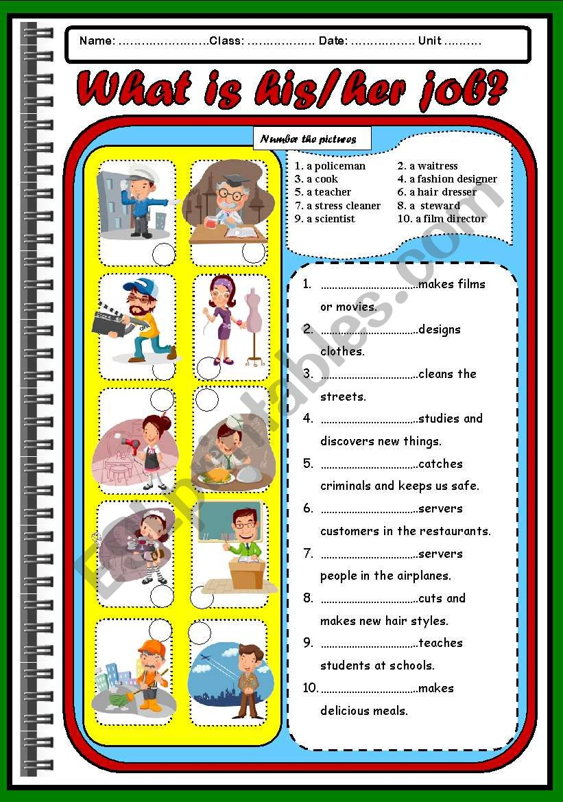OCCUPATIONS ( PAPER 2) worksheet