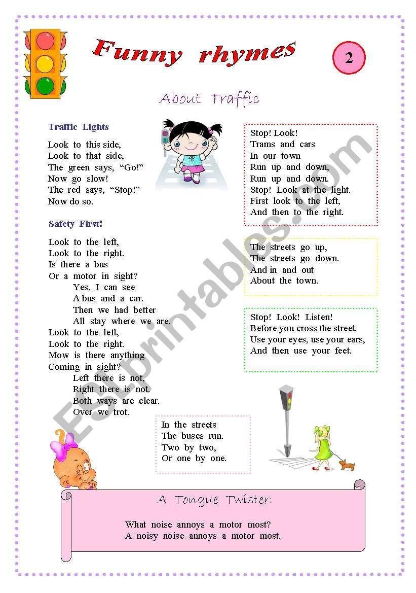 Rhymes for kids worksheet