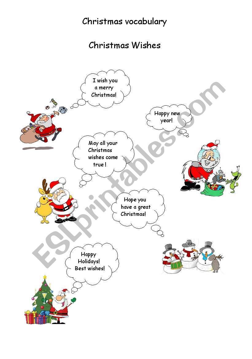 Christmas wishes! worksheet