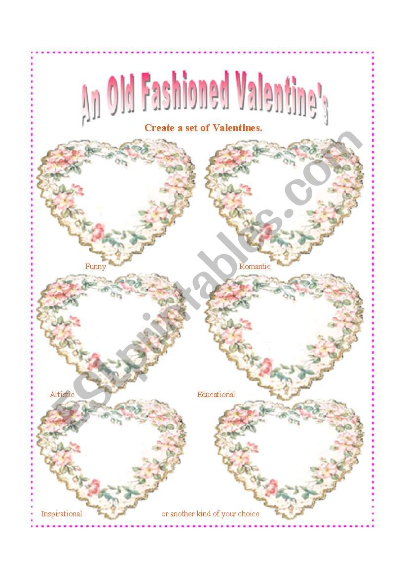 An Old Fashioned Valentine�s: Present perfect and present perfect progressive