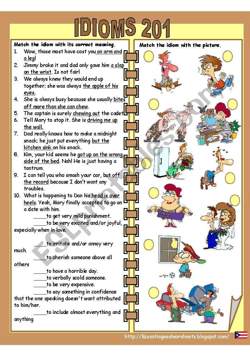 idioms 201 worksheet