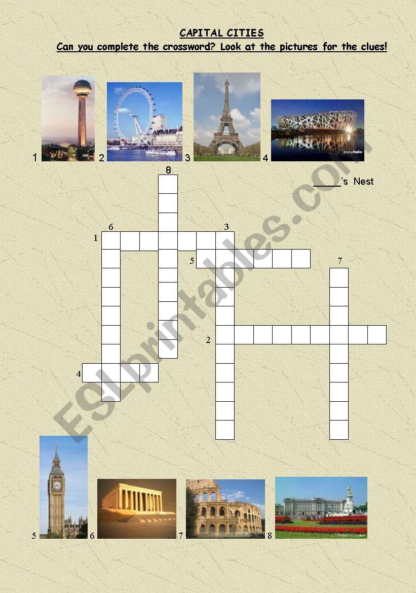 crosswords-important buildings in some capital cities