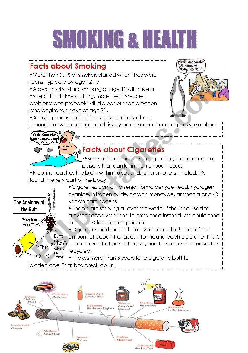 SMOKING & HEALTH worksheet