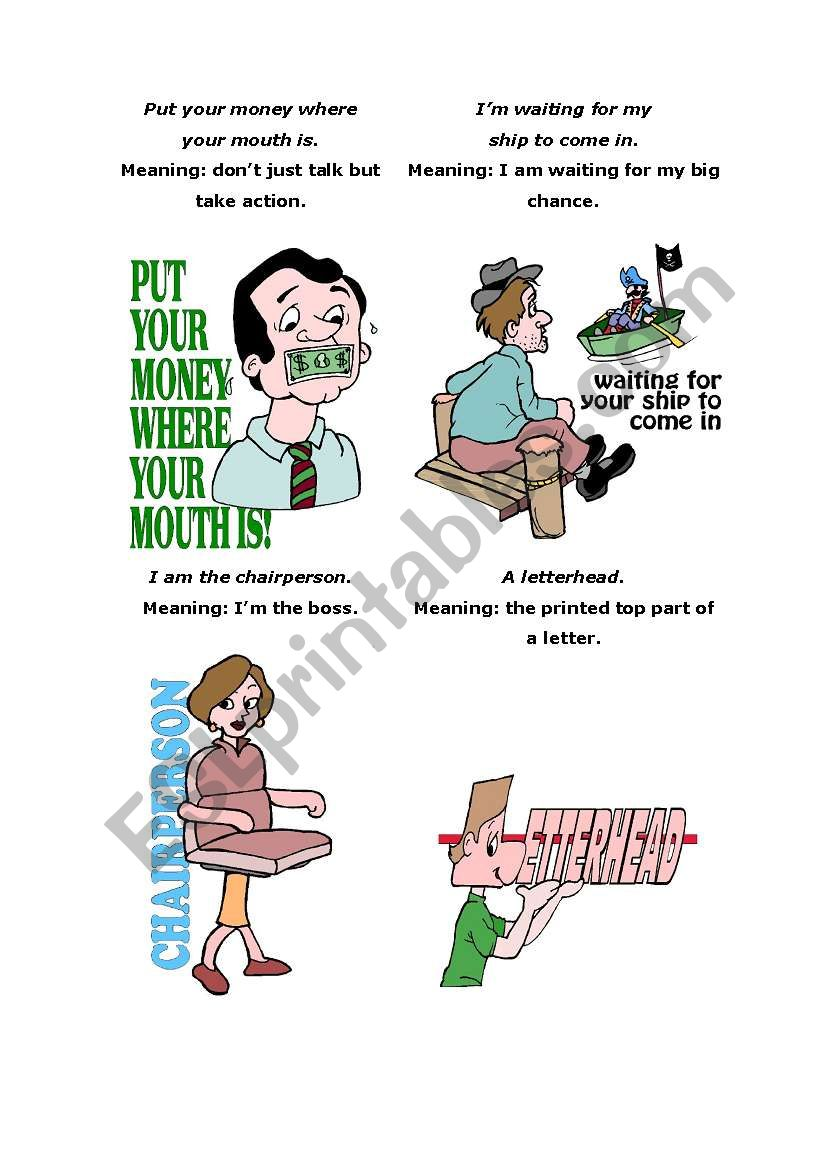 Sayings 4 worksheet