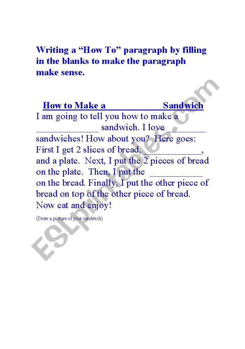 English worksheets: \