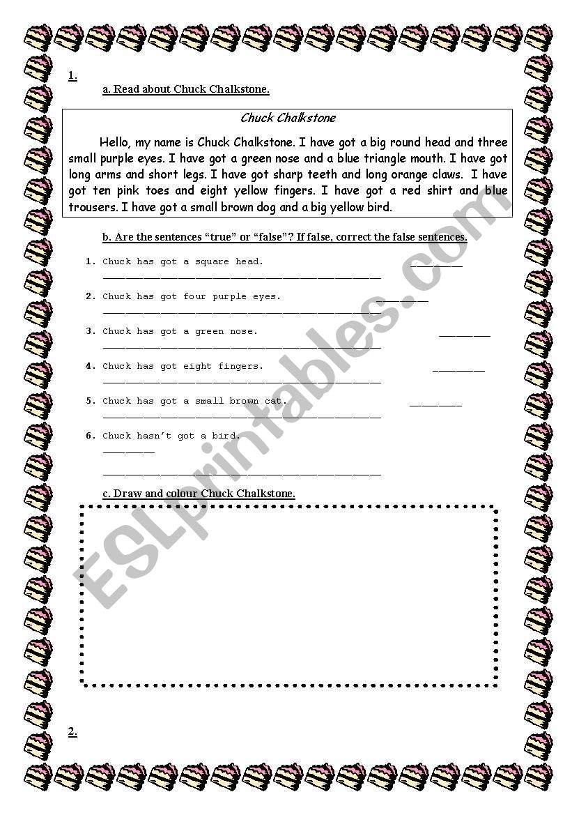 - Easy Reading Texts About Body Parts - ESL Worksheet By Jane_austen