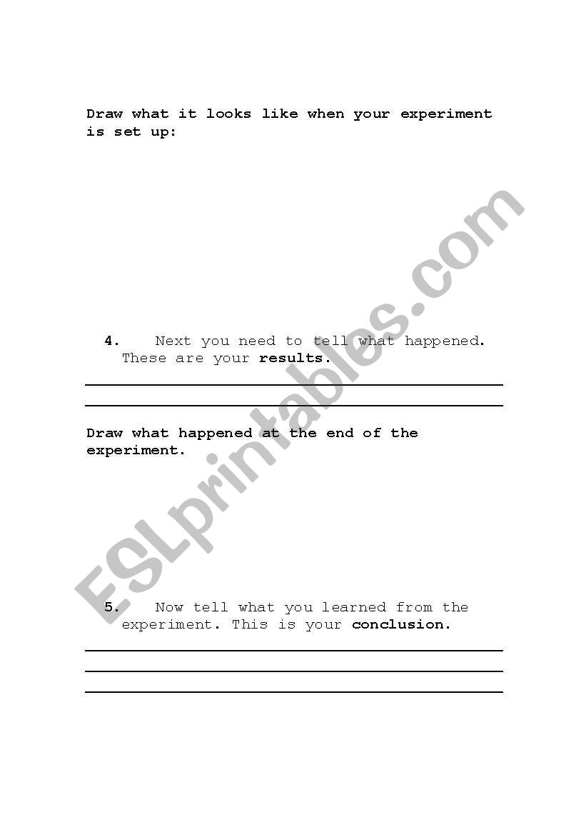 A Science Experiment Template For Esl Esl Worksheet By Rhorwitz
