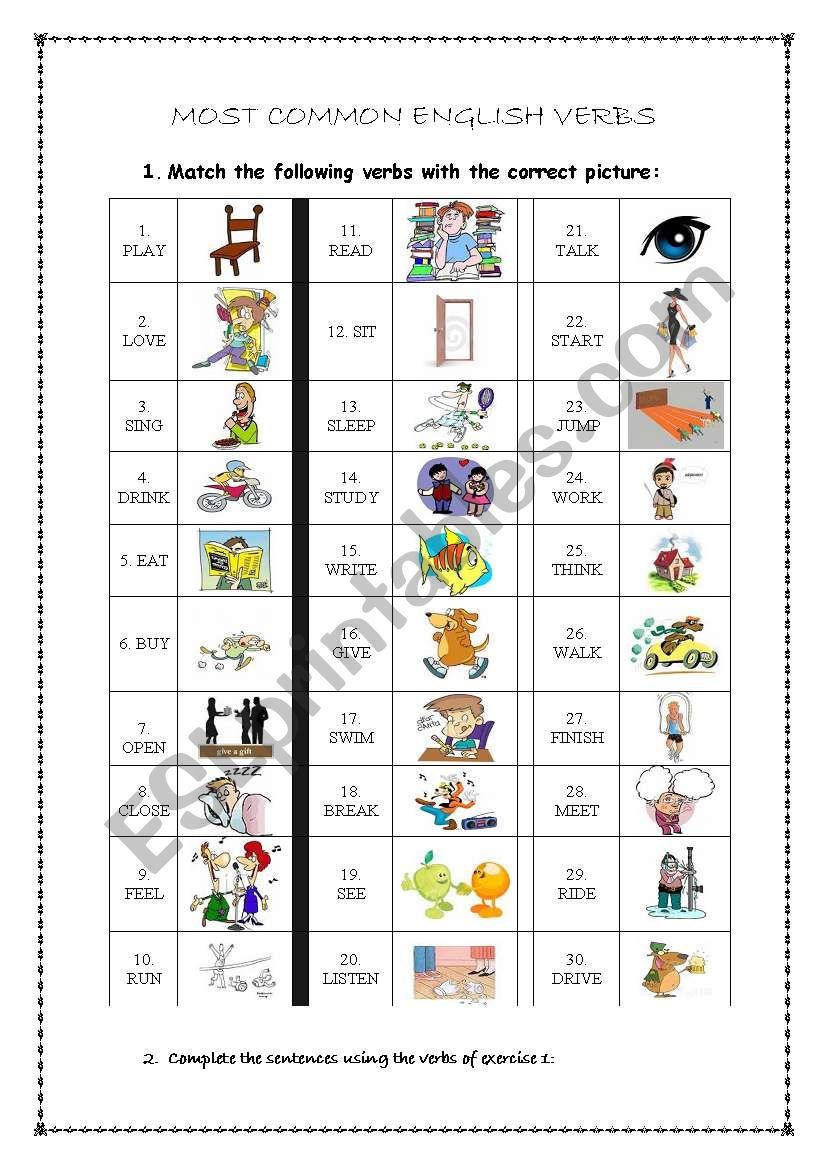 common verbs