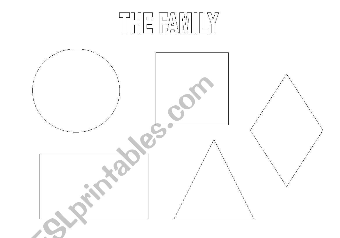 The family members and the shapes