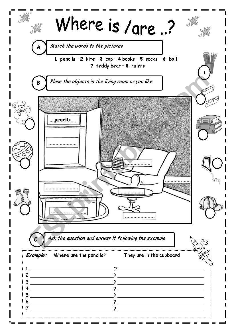 TO BE + PREPOSITIONS 1 worksheet