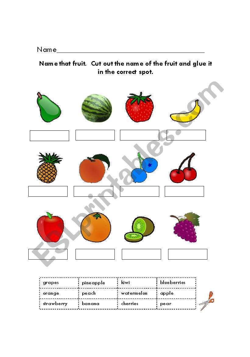fruit worksheets worksheet