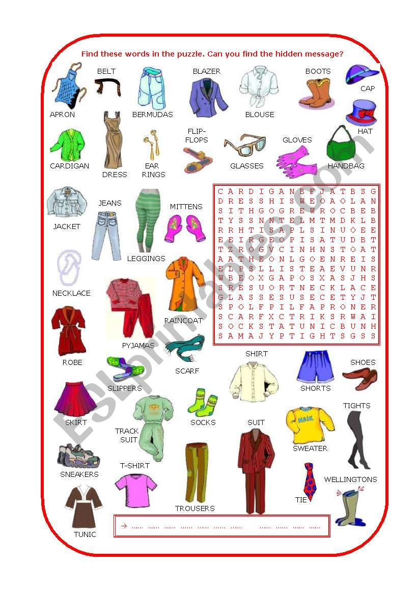 Fashion show (part 2 of 2) worksheet
