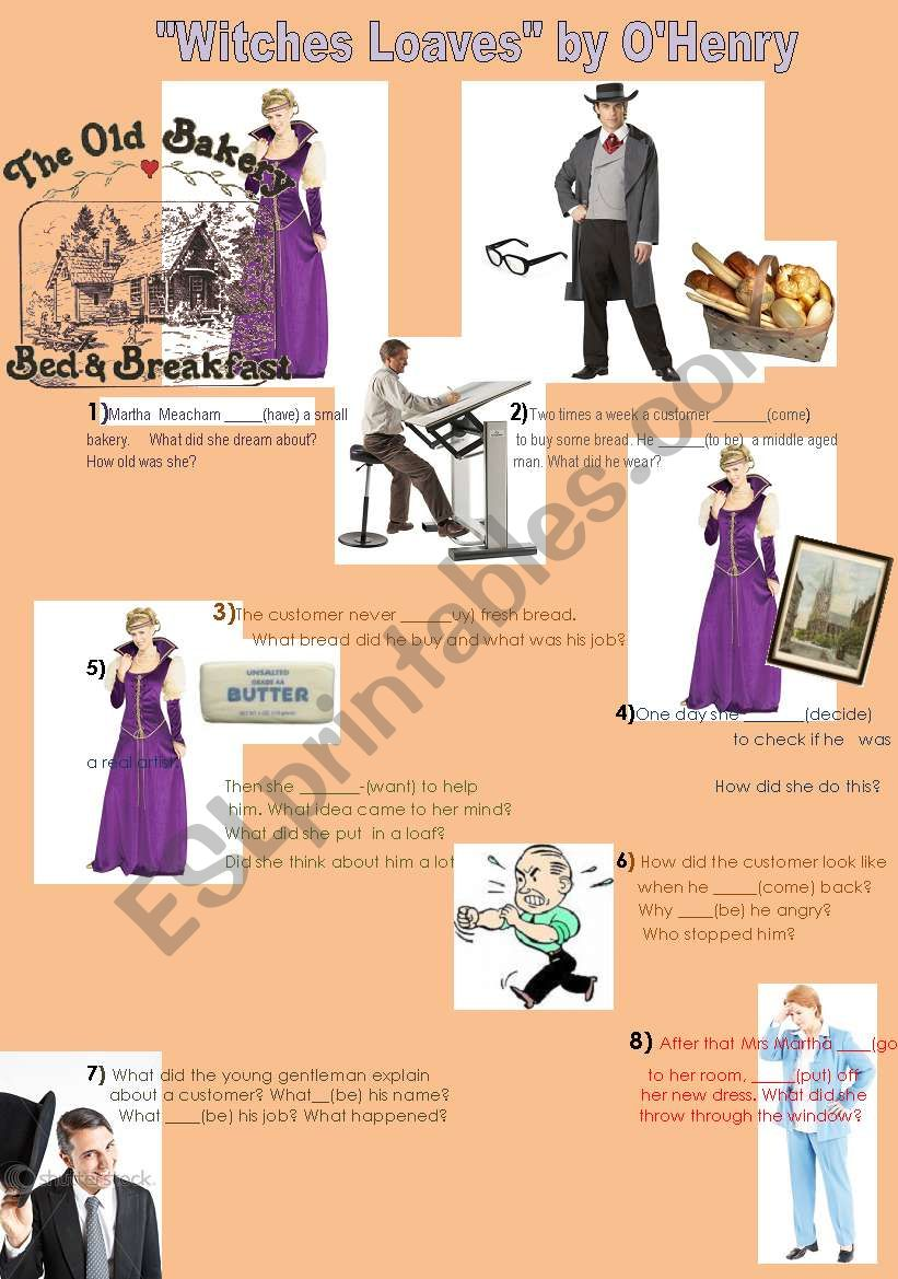 witches loaves a short story by o180henry esl worksheet