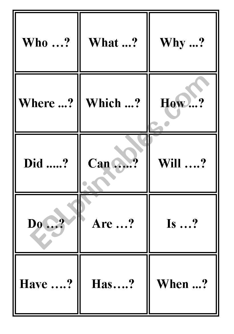 Question starter words