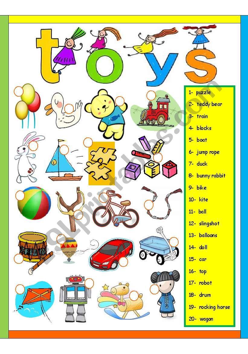 Toys For Exercise : Toys exercise esl worksheet by amna