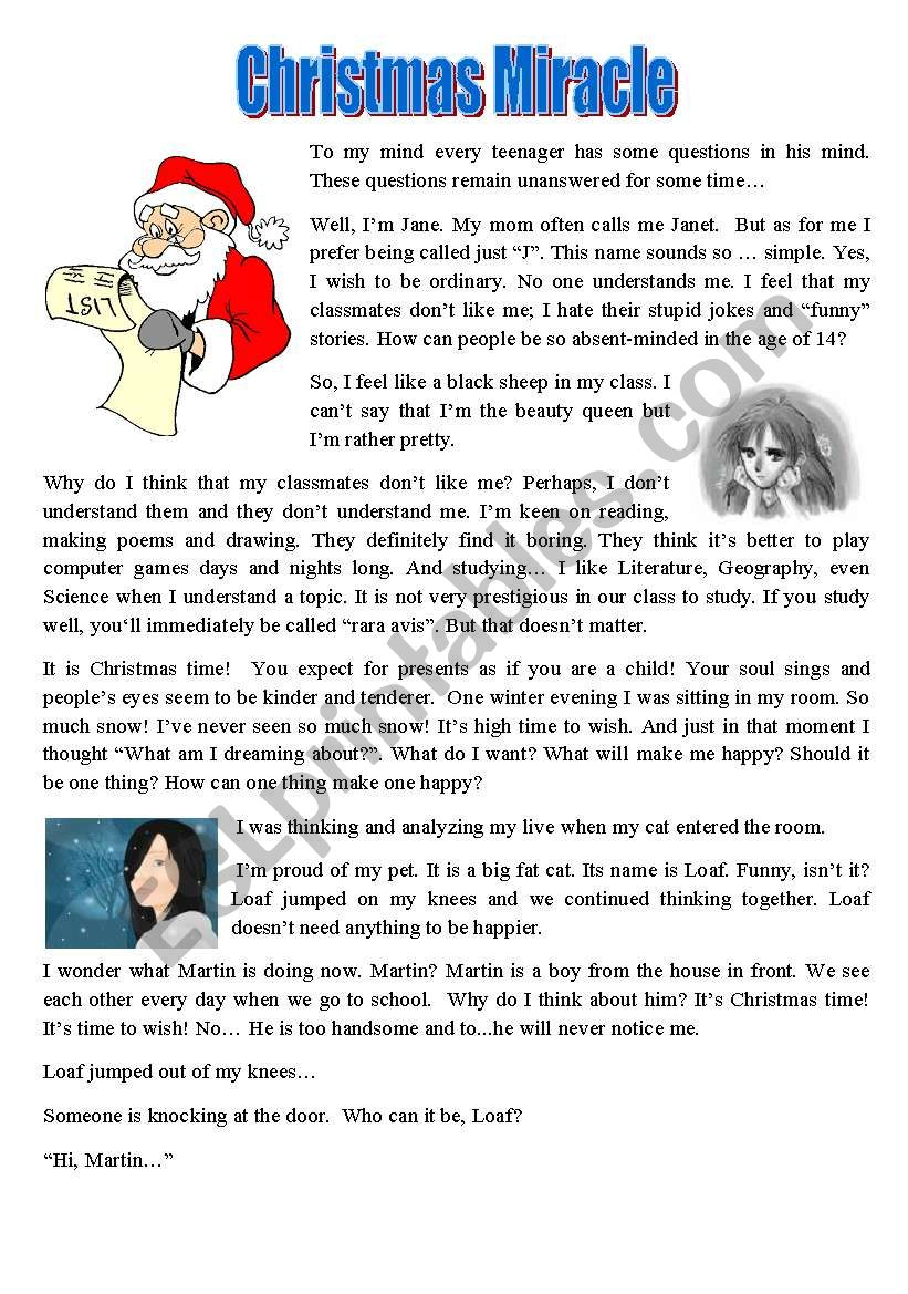 Christmas Miracle - ESL worksheet by Svetlana (F)