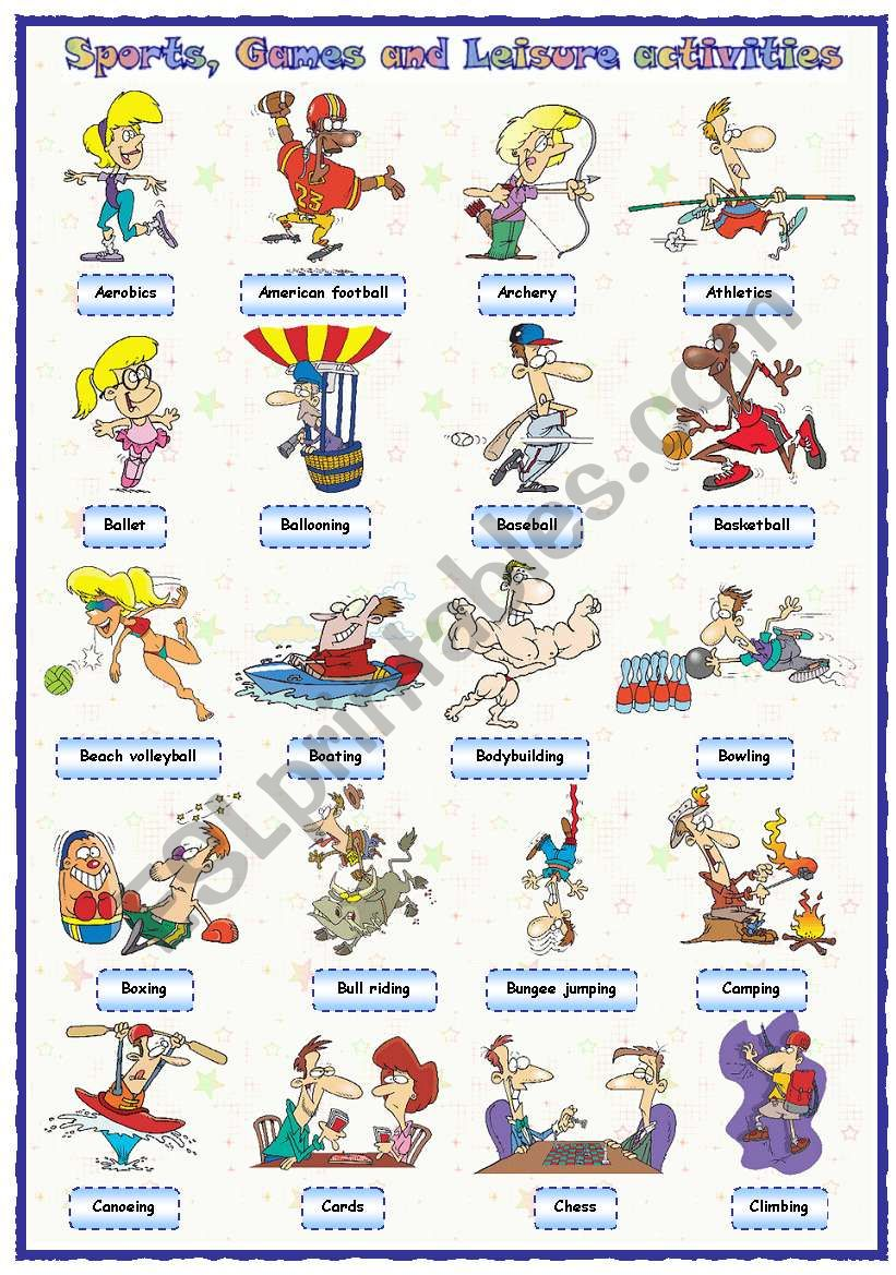 Sports, games and leisure activities: Pictionary (1 of 4)