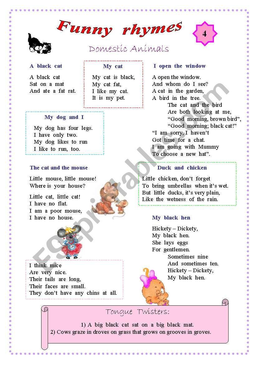 Rhymes for kids - 4 worksheet