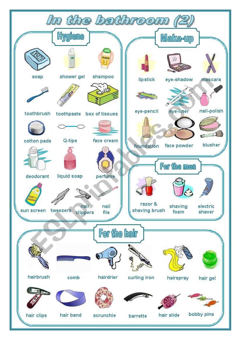 In the bathroom 2: pictionary (editable)