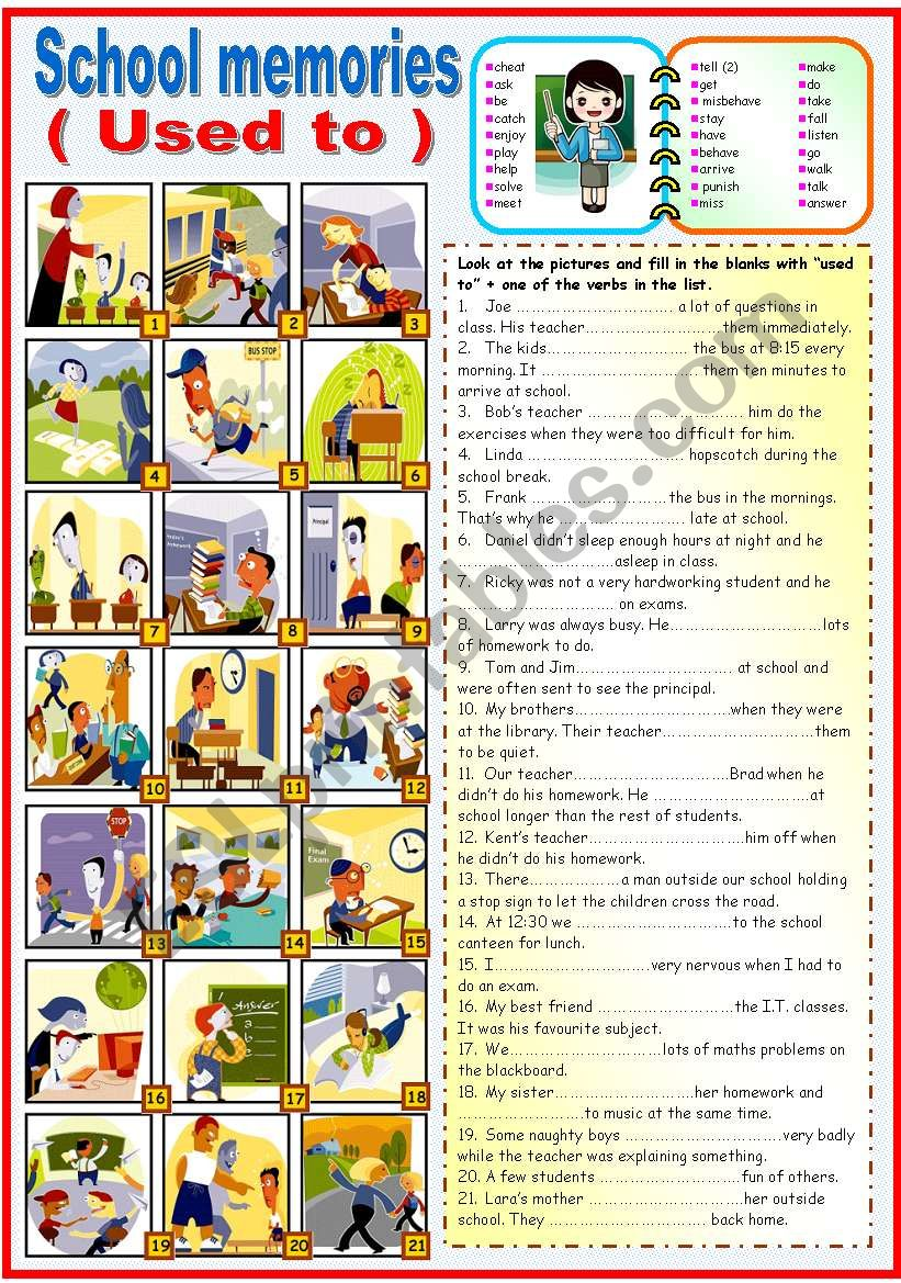 SCHOOL MEMORIES -USED TO (KEY+B&W VERSION INCLUDED)